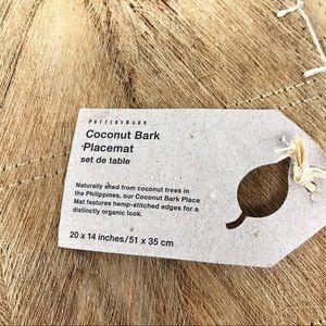Pottery Barn Coconut Bark Hemp-Stitched Placemats